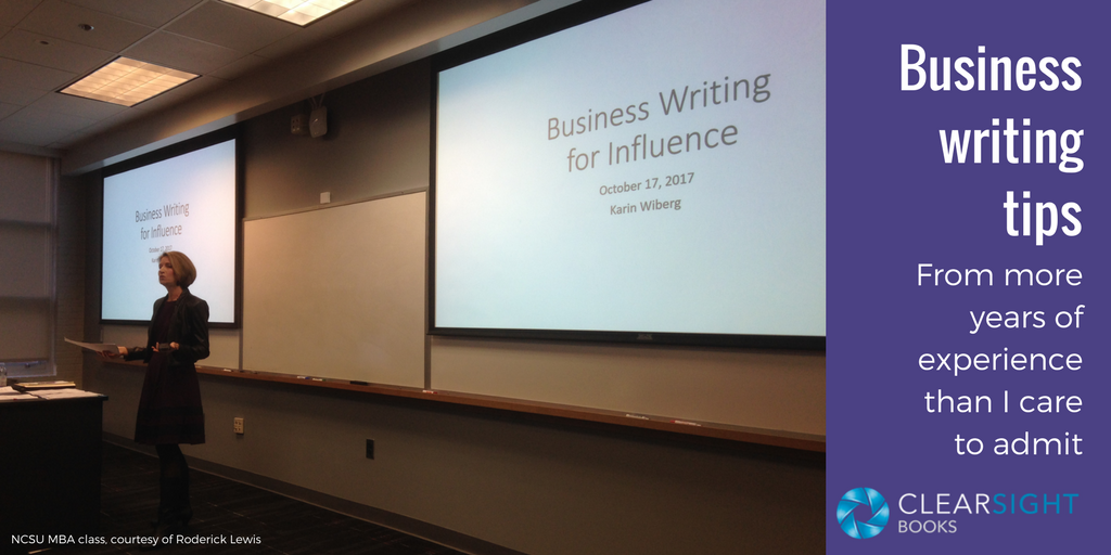 My Top Business Writing Tips
