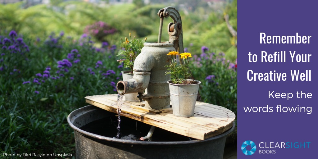well and pump, creative well