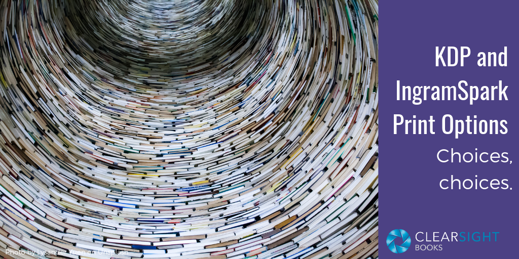 looking up a circular tower of books