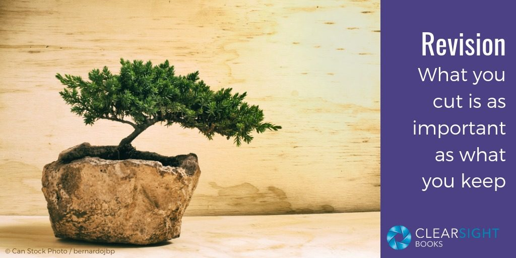 bonsai tree, what you cut is as important as what you keep