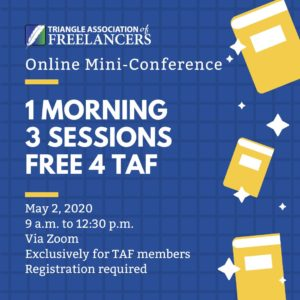TAF conference graphic for May 2, 2020